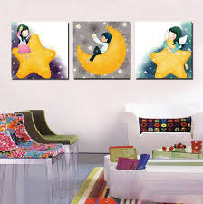paint ideas for kids rooms 3 panel decorative canvas painting kids room