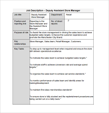 11 Store Manager Job Description Templates Free Sample Example
