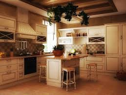 Simple Country Kitchen Designs Concrete Accent Walls Rectangle White