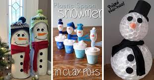 20 diy snowman craft ideas making even more happiness worthy page 2 of 2 cute diy projects