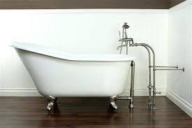 clawfoot bathtub faucet cast iron slipper freestanding package adjule swing arms