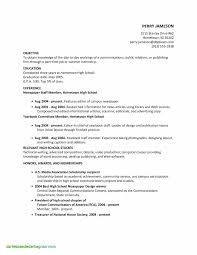 High School Student Resume New Sample Resume For College Application