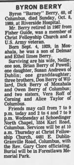 Byron Edgar Barney Berry obit - Newspapers.com
