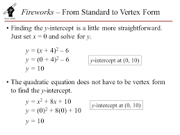 how to solve vertex form math fireworks from standard to vertex form mathletics