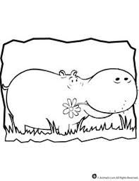 Small Picture Learning Friends Hippo coloring printable Applique Pinterest