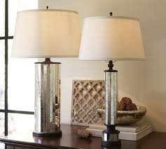 mirror lamp. parsons antiqued mirror table lamp base - pottery barn