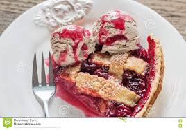 cherry pie slice with ice cream. Brilliant Pie Download Slice Of Cherry Pie With Balls Chocolate Ice Cream Stock Photo   Image Of In R