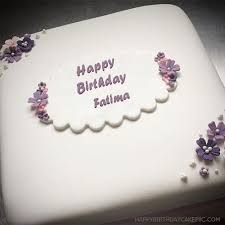 Butter Birthday Cake For Fatima With Name Fatima Happy Birthday