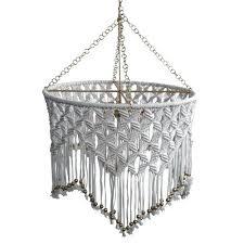 boho chandelier lighting beaded macrame chandelier boho chandelier lamp