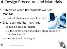 Self Monitoring Applied As A Classroom Support Deb Childs