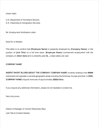 Employee Verification Letter Template Business