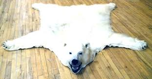 fake bear rug polar bear rug polar bear rug there is a in faux fur with fake bear rug