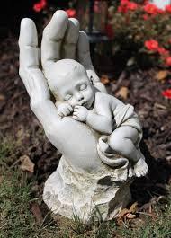 Ajay's Emporium - In God's Hands Miscarriage Baby Memorial Garden Statue,  $42.99 (http: