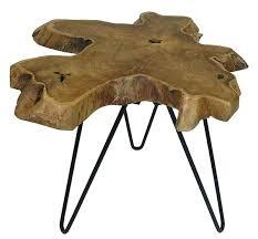 teak root side table teak root side table w hairpin legs large root cube teak wood