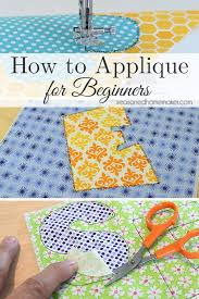 How To Make Appliques With Sewing Machine