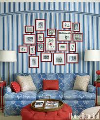 Red And Blue Living Room Patriotic Decor For 4th Of July Red White And Blue Decorating