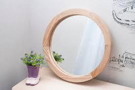 round wood mirror round decorative wall