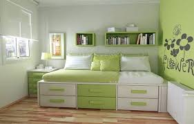 Green Modern Teenage Girls Bedroom Design Ideas For Small Space