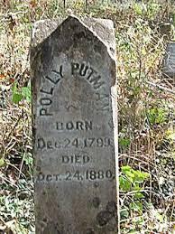 "Mary ""Polly"" Garrett Putman (1799-1880) - Find A Grave Memorial"