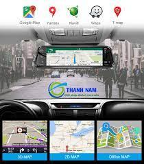 Camera hành trình Android A10 4G, WIFI, GPS màn hình gương 9.35 inch
