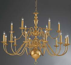 franklite delft large polished brass 18 light flemish chandelier