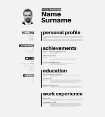 Vector Minimalist Cv Resume Template With Nice Typogrgaphy Cool Nice Resume