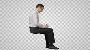 people sitting on chairs png. smart businessman sits on the chair, looks at and writes. side view. footage with alpha channel. file format - mov. codeck png+alpha combine these people sitting chairs png