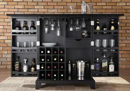 exciting large newport black expandable home bar with wood black laminated material ideas design black mini bar home