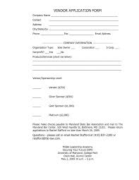 Vendor Registration Form Template India Application Word Free