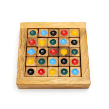 Wooden Sudoku Game Board Colored Sudoku For Kids 15
