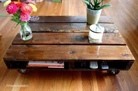 DIY Pallet Coffee Table With Wheels Tutorial  99 PalletsPallet Coffee Table On Wheels