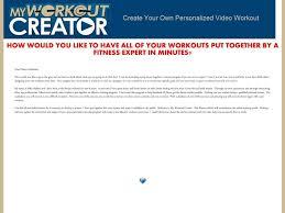 Custom Workout Plan Generator Freesub4 Com