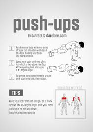 Chest Workout Chart Step By Step Push Ups Guide