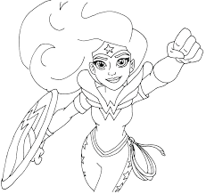 Super Hero Coloring Page Dc Superhero Girls Pages For Girl In Heroes