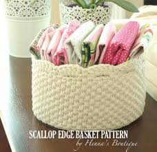 Free Crochet Basket Patterns Gorgeous Scalloped Edge Crochet Basket PDF Pattern Free Crochet Courses For