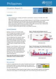 Philippines Dengue Outbreak Jul 2019 Reliefweb