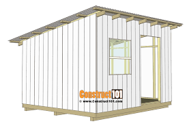 10x12 lean to shed plans corrugated roof