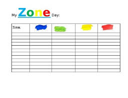 Zones Of Regulation Chart Zone Of Regulation Chart Worksheets Teaching Resources Tpt
