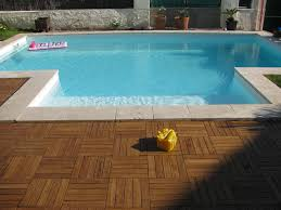 outdoor bamboo decking traditional pool