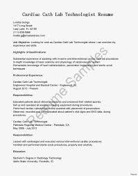 Cath Lab Nurse Resume Example Cv Rn Sample Templates New
