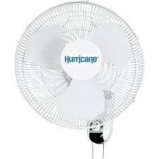 hurricane classic oscillating wall mount fan