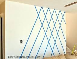 geometric wall design with painters tape painters tape designs 3 paint on walls with ideas how