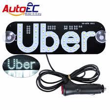 Autoec 1x Taxi Top Light New Led Roof Uber Panel Light 12v Car Super Bright Led Light With Cigarette