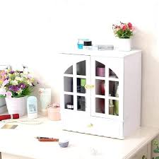 wooden makeup organizer beauty station wood organiser ikea design premium cosmetic storage and office wi