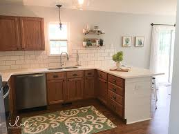 Painting Oak Kitchen Cabinets White Stunning Updating A 48s Kitchen WITHOUT Painting Cabinets
