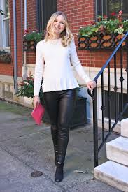 date night outfit leather leggings