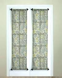 front door curtain panel front door window
