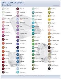 2009 Swarovski Color Charts Swarovski Bullet Jewelry