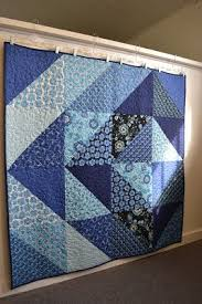 25+ unique Big block quilts ideas on Pinterest | Easy quilt ... & Crazy about the blues Quick and easy quilt! hanging the quilt with hangers Adamdwight.com