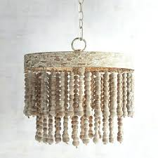 wood bead chandelier small wood bead chandelier world market wood bead chandelier